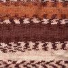 Пряжа YarnArt Crazy Color 138  (Белый, песочный, рыжий, коричневый)