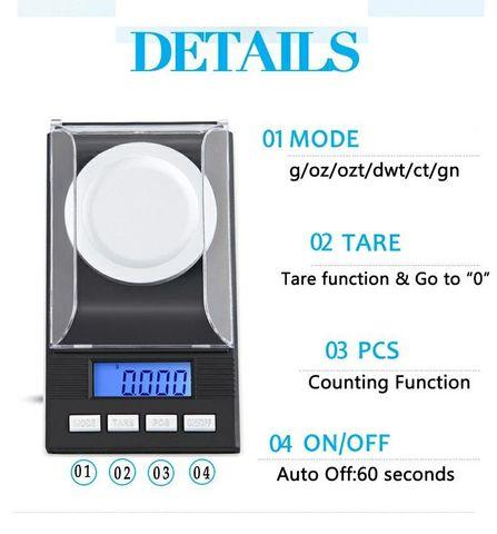 Высокоточные электронные весы до 20 грамм, с точностью 0,001
