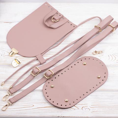 """Комплект для рюкзачка из экокожи """"Розовый"""""""