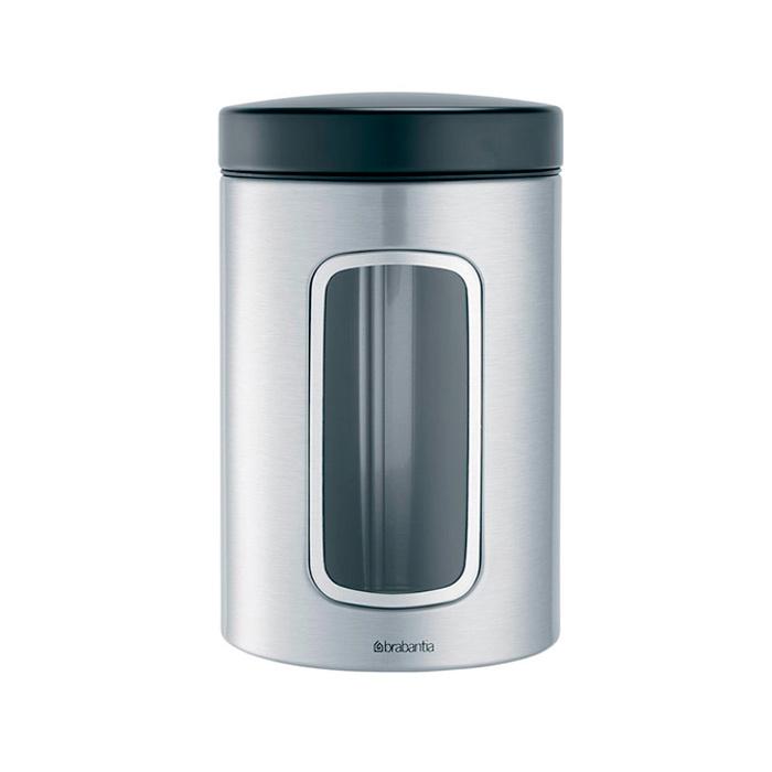 Контейнер для сыпучих продуктов с окном (1,4 л), Стальной матовый (FPP), артикул 299247, производитель - Brabantia