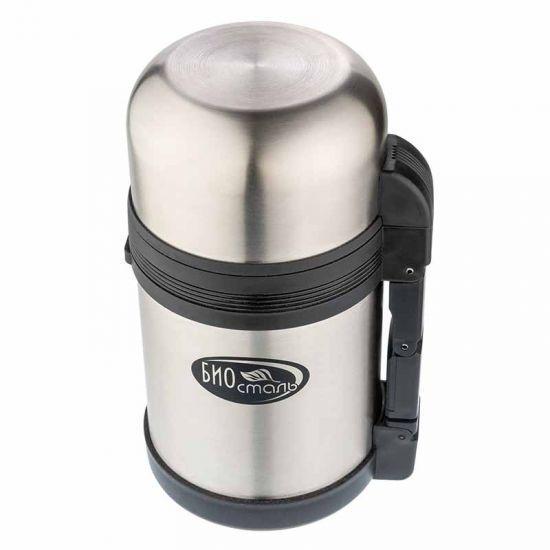 Термос универсальный (для еды и напитков) Biostal (0,6 литра), стальной