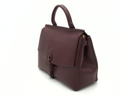 Бордовая кожаная сумка классической формы