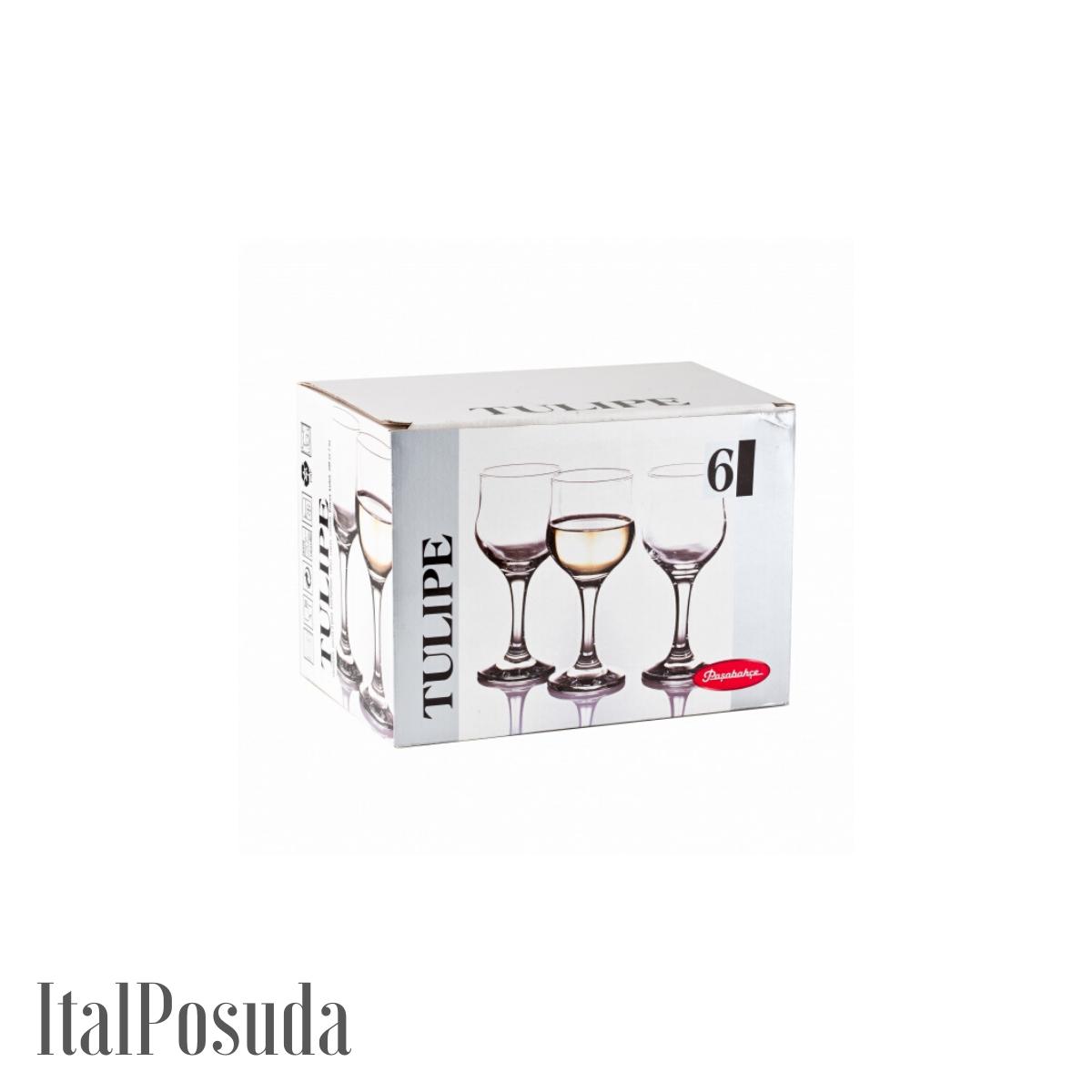 Набор фужеров для шампанского Pasabahce Tulipe (Тулип), 6 шт BP44160