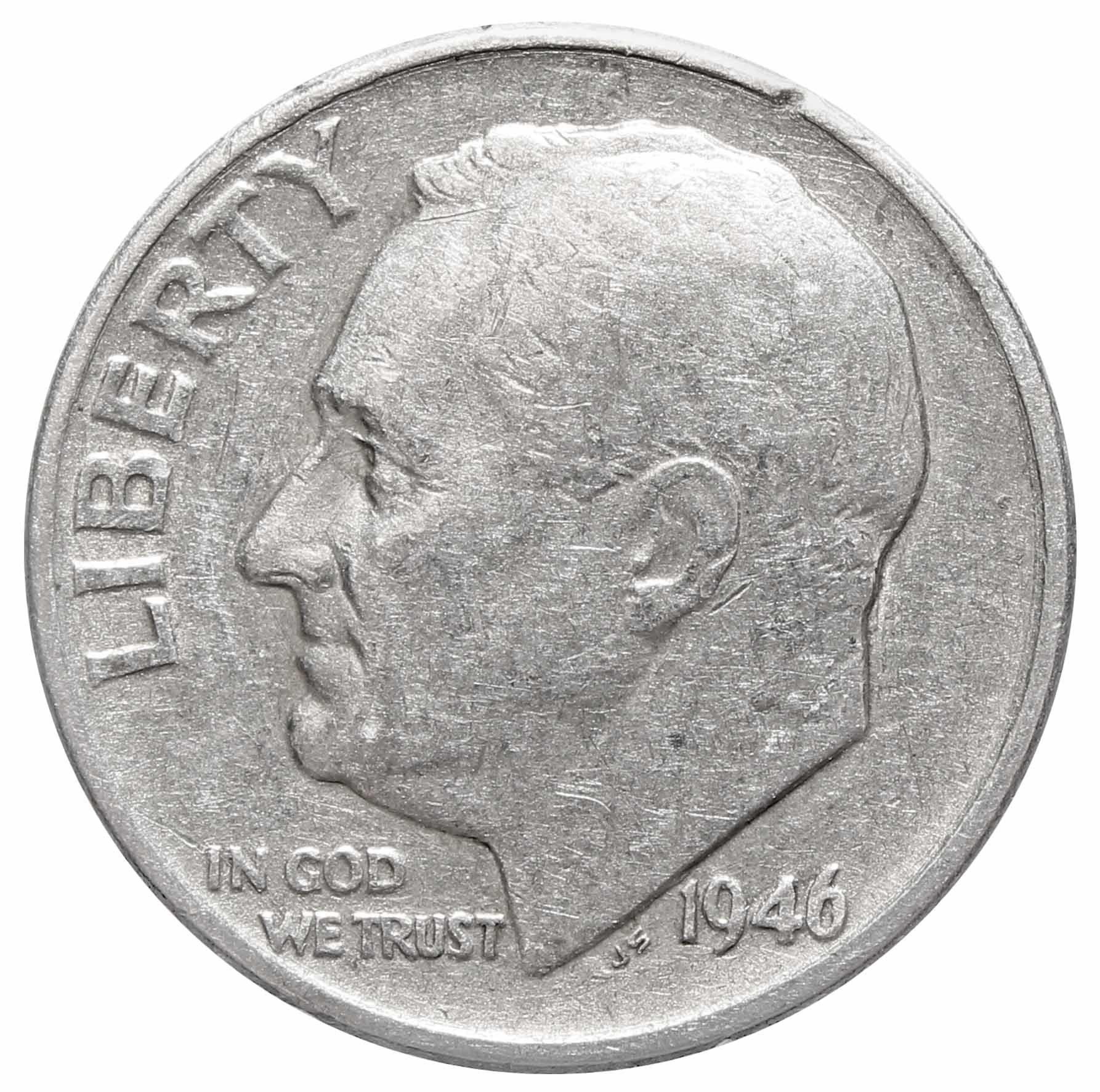 1 дайм (10 центов) 1946. США (D) VF Серебро