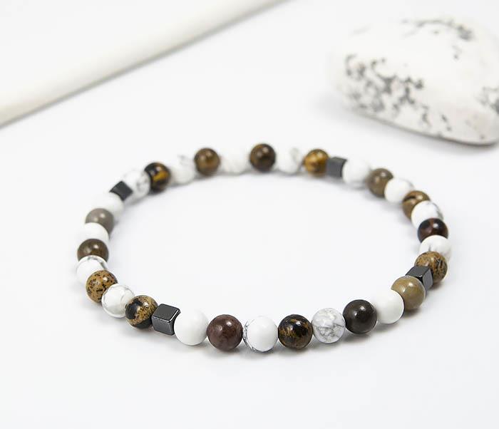 BS823 Ярий мужской браслет из разных натуральных камней фото 04