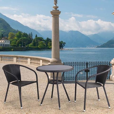 Комплект плетеной мебели T282ANS/Y137C-W53 Brown 2Pcs