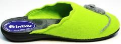Тапочки домашние войлочные женские Inblu NC- 1B Mouse Light Green