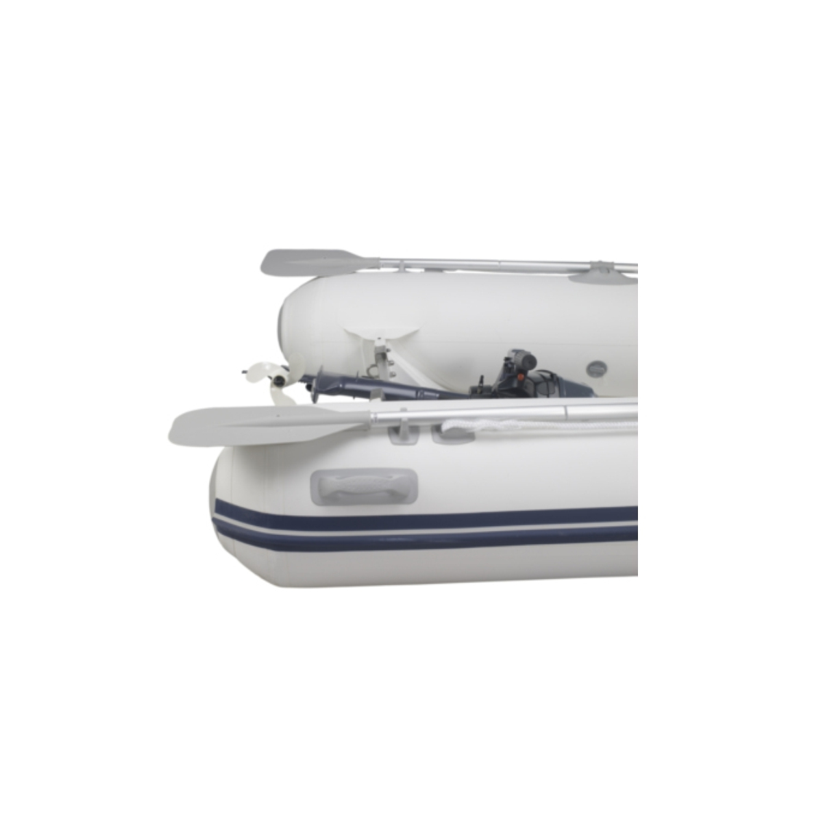 TENDER WITH FOLD-DOWN TRANSOM