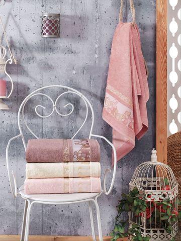 Комплект махровых полотенец DO&CO бамбук 50х90 см (4 шт.) HANNA