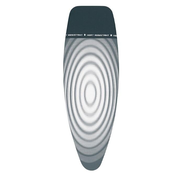 Чехол PerfectFit 135х45 см (D), 4 мм фетра + 4 мм поролона, термоустойчивая зона для утюга, Титановые круги, арт. 135842 - фото 1