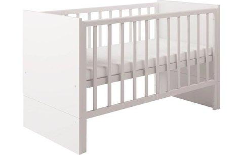 Кровать детская Polini Classic 1414 с боковыми ограждениями, белый