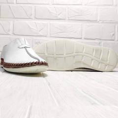 Мужские летние слипоны туфли на плоской подошве кэжуал Luciano Bellini 91724-S-304 All White.