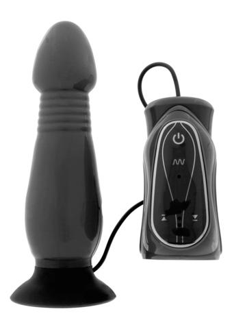 Анальный стимулятор с вибрацией THRUSTING BLACK  Z003B1F181B1