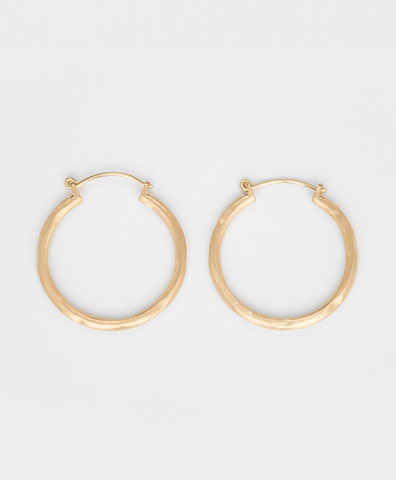 Серьги ROUND HOOP GOLD medium