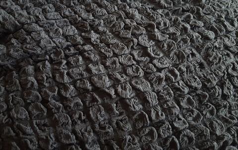 Комплект чехлов для дивана и двух кресел темно серый.