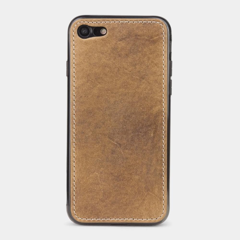 Чехол-накладка для iPhone SE/8 из натуральной кожи теленка, цвета винтаж