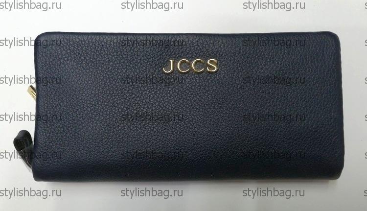 Синий кошелек на молнии JCCS js-3205blue