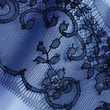 "Ажурное кружево ""Шантильи"" от Sophie Hallette чёрного цвета"
