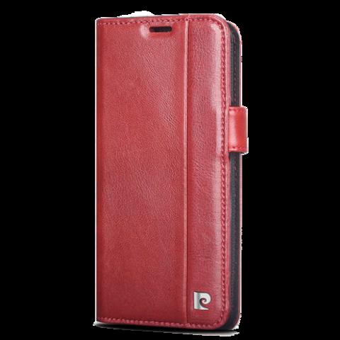 Pierre Cardin / Чехол-книжка для телефона Galaxy S9 | Красный