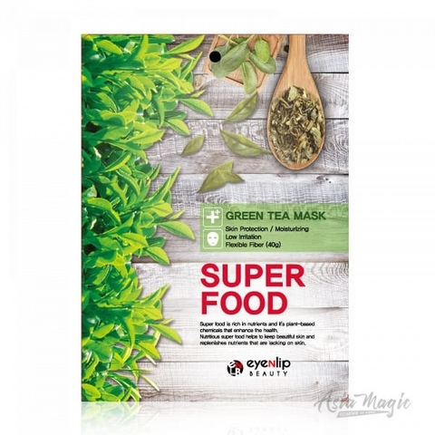 Тканевая маска  Eyenlip Super Food Mask Green Tea