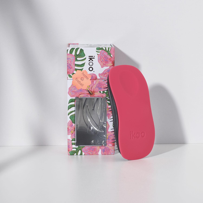 home fireball black   расческа-детанглер для бережного расчесывания Пламя страсти