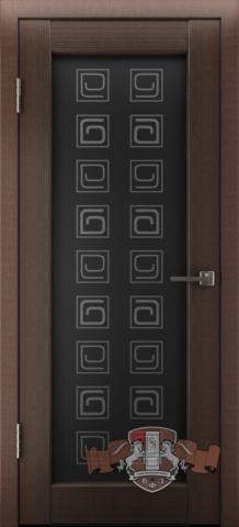 Дверь Л8ПО4 (венге, остекленная экошпон), фабрика Владимирская фабрика дверей