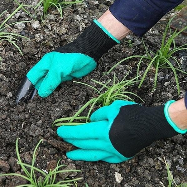 Садовые перчатки с когтями  Garden Genie Gloves для работы в саду и огороде