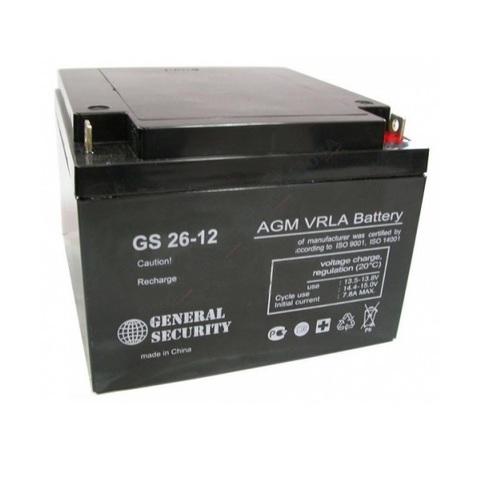 Аккумулятор GS 26-12 (12В 26А/ч)