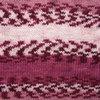 Пряжа YarnArt Crazy Color 136  (Розовый, брусника, белый)