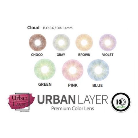 Серые цветные линзы Urban Layer (Урбан Лейер) Cloud Gray