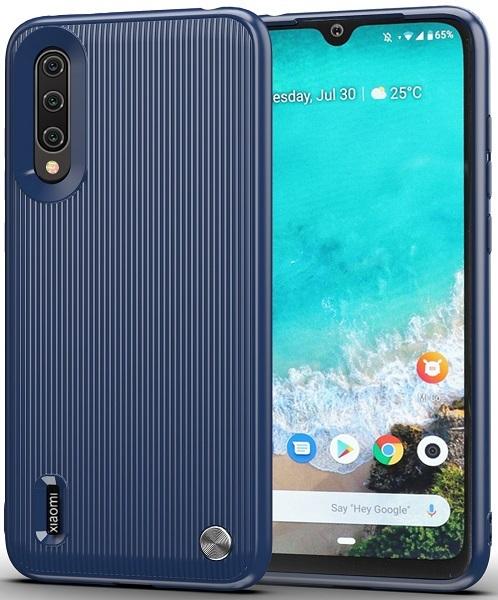 Чехол для Xiaomi Mi A3 (CC9E) цвет Blue (синий), серия Bevel от Caseport