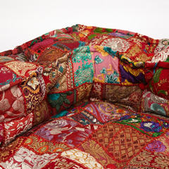 Модуль мягкий угловой Secret De Maison GIPSY (mod. 10201) cotton patchwork, этнический красный