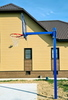 Стойка баскетбольная вынос 1,2м бетонируемая, для улицы (разборная, регулируемая по высоте)