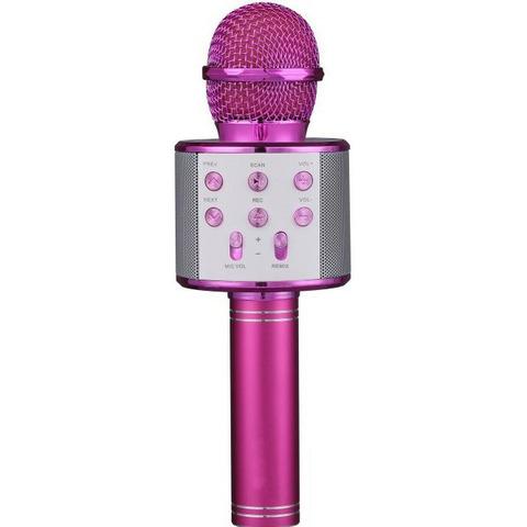 Беспроводной караоке микрофон WS-858(розовый)