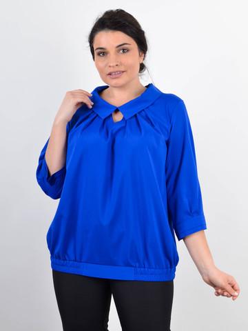 Біата. Ошатна жіноча блузка великих розмірів. Електрик.