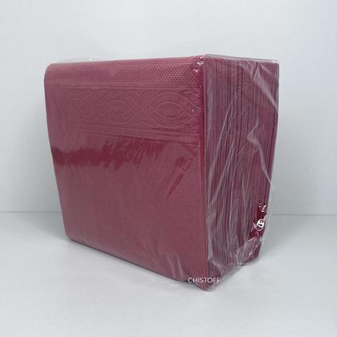 Салфетки Papero 33х33 см 2сл. (100 шт.) бордовые (NL523(NL545))