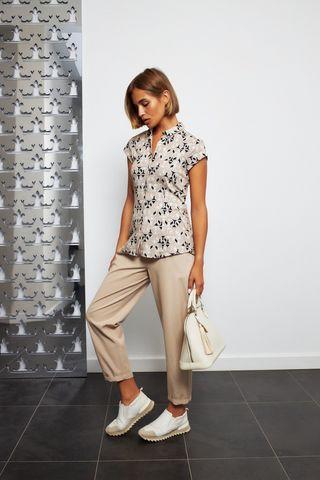 Desoto Трикотажная блуза в принт с цепочками