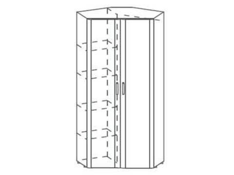5.09 шкаф угловой 2-х дверный