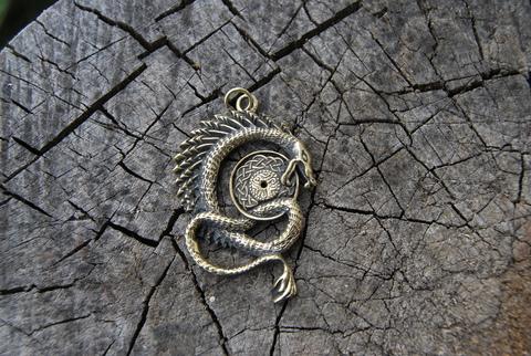 Кулон из бронзы Дракон Скандинавский