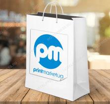 Пакет из мелованной бумаги с логотипом