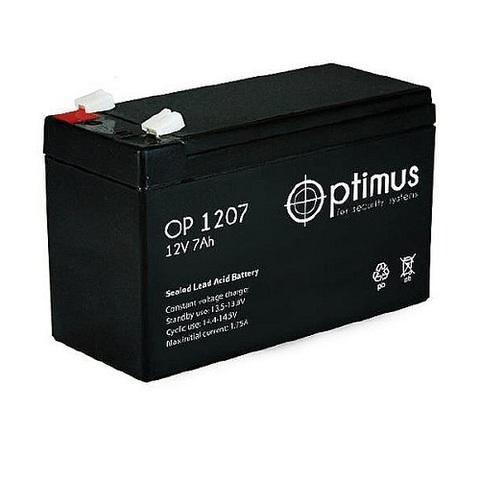 OP 1207 аккумулятор 12В/7Ач Optimus