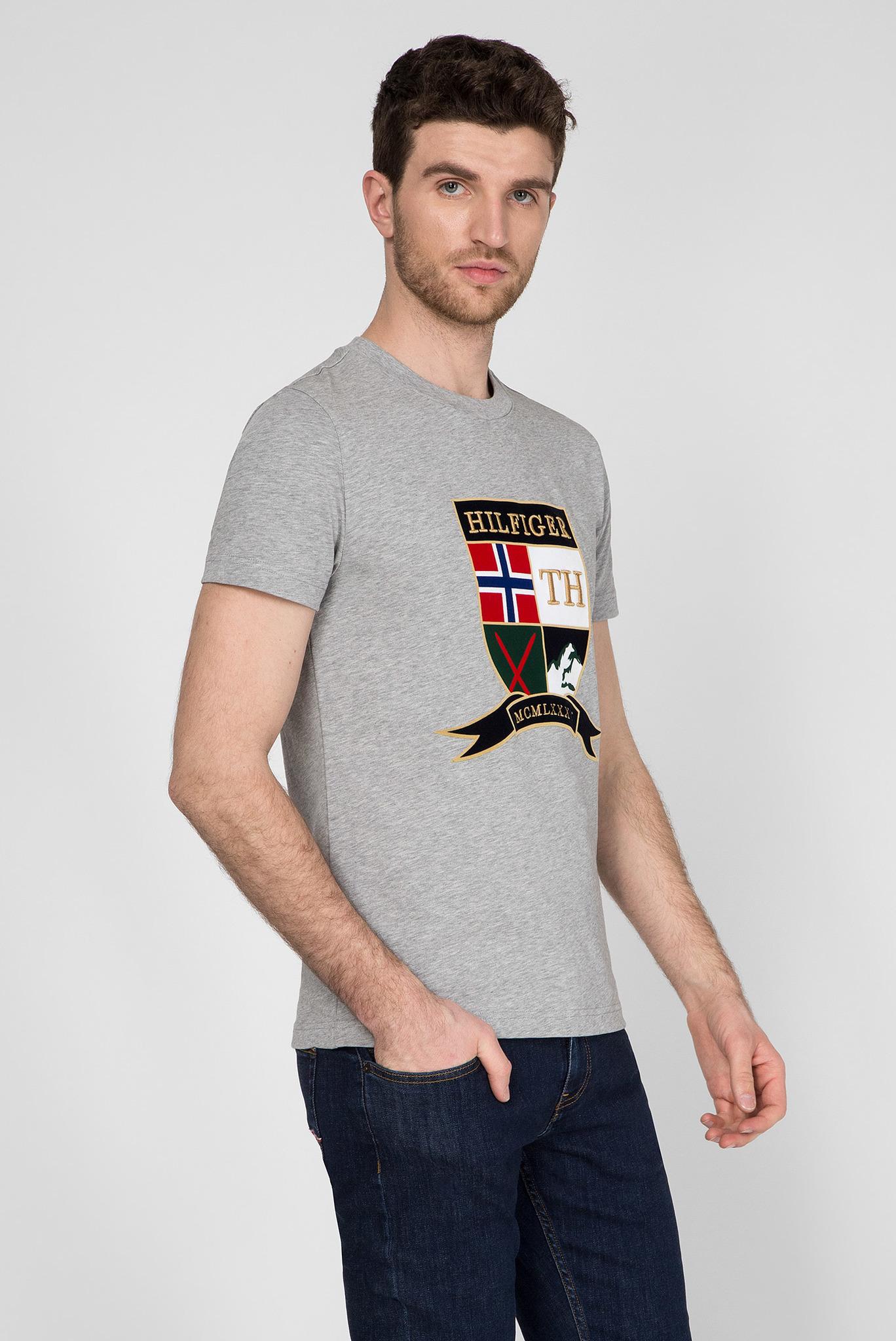 Мужская серая футболка SHIELD Tommy Hilfiger