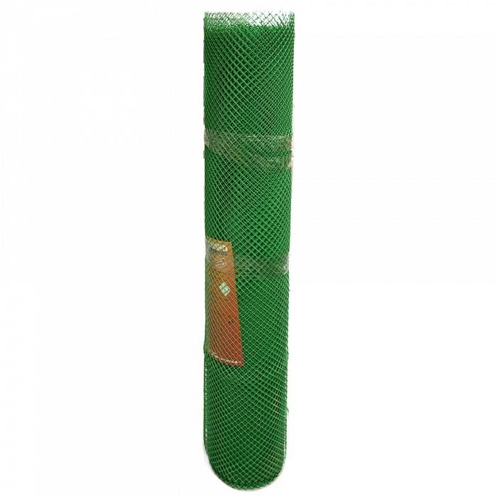 Сетка садовая пластиковая ромбическая Гидроагрегат 15x15мм, 1x20м, зеленая
