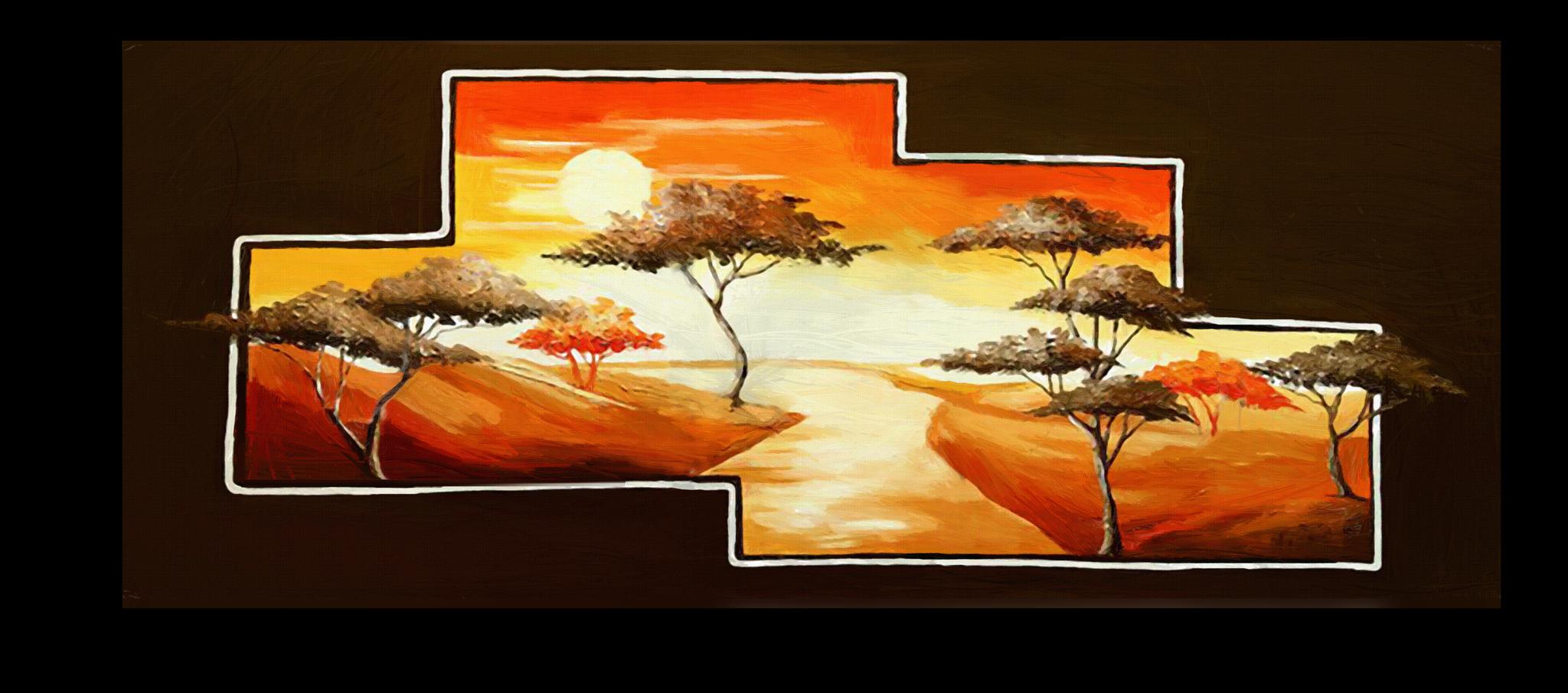 """Постеры Постер """"Деревья на закате"""" п300.png"""