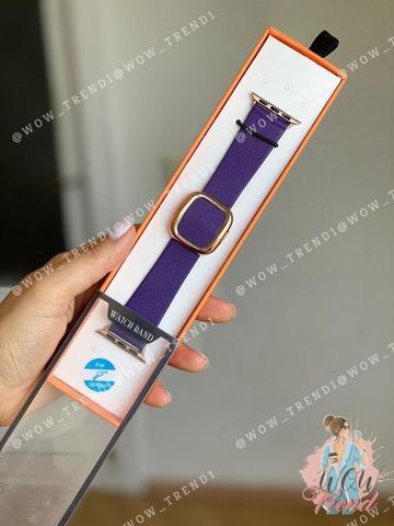 Ремешок Apple watch 38mm Modern Buckle Leather gold /ultra violet/