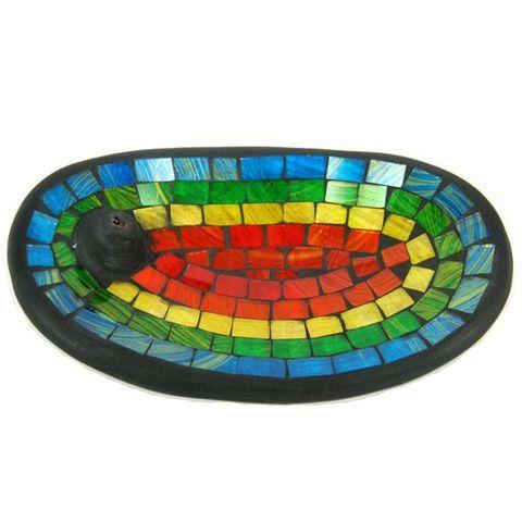 Подставка под благовония Цветная, 13*21 см, керамика/стекло