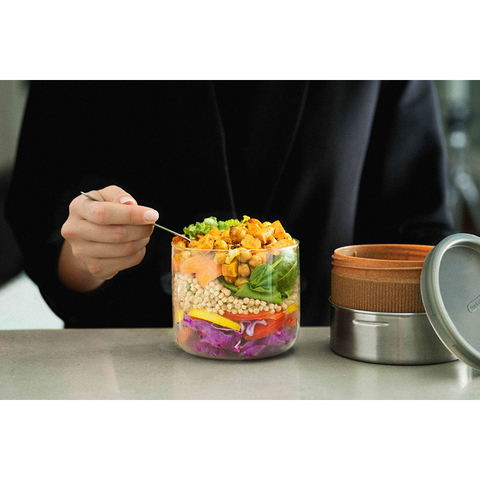 Ланч-бокс Black+Blum, Glass Lunch Pot, 600 мл, коричневый
