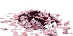 Конфетти фольгированные, Квадрат Розовое золото, 0,5см. / 50 г. /