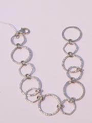 Круги  (серебряный браслет )