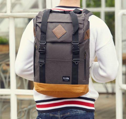 Картинка рюкзак городской G.Ride Arthur серый - 5